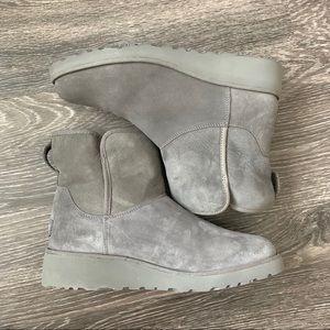 Ugg Kristin short boot, gray ugg winter boot